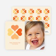 Four Heart Clover - Tangerine