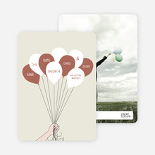 Fun Balloon Themed Save the Date Cards - Beige