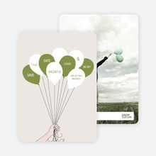 Fun Balloon Themed Save the Date Cards - Gray