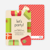 Gift Exchange Holiday Invitations - Green