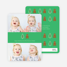 Gingerbread Man Photo Cards - Bronze