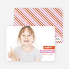 Happy Holidays 2010 Photo Card - Orange