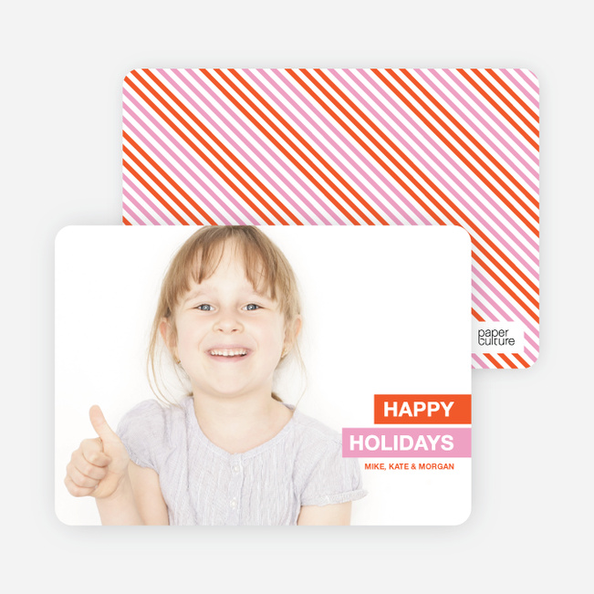 Happy Holidays 2010 Photo Card - Orange