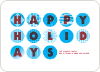 Happy Holidays Christmas Ornament Cards - Royal Blue