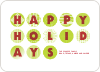 Happy Holidays Ornaments - Lime Green