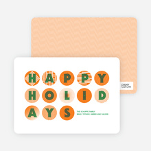 Happy Holidays Ornaments - Tangerine