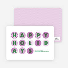 Happy Holidays Christmas Ornament Cards - Amethyst