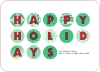 Happy Holidays Ornaments - Pistachio