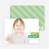 Happy Holidays Photo Card - Green