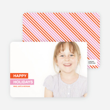 Simply Happy Holidays - Orange
