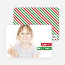 Happy Holidays Photo Card - Red