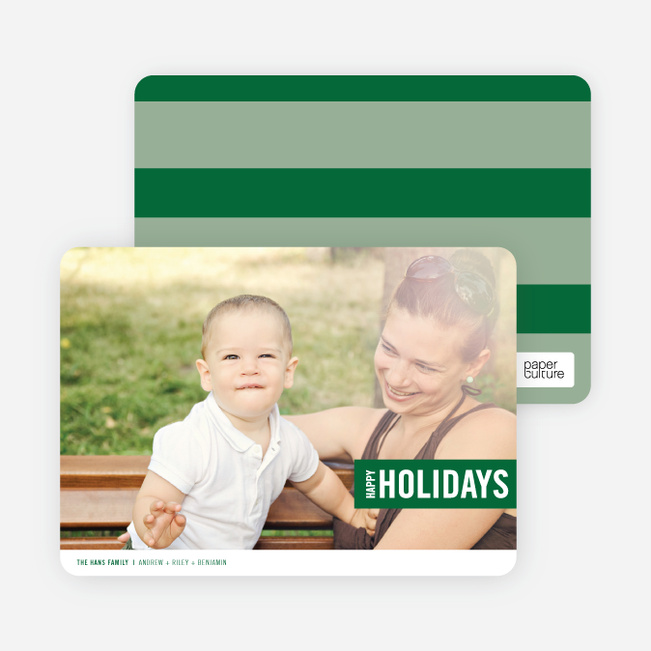 Holiday Band Holiday Photo Cards - Green