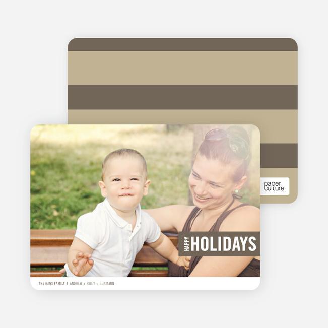 Holiday Band Holiday Photo Cards - Brown