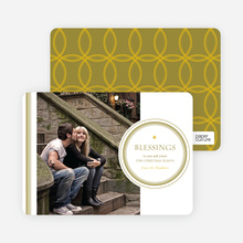 Religious Christmas Cards: Blessings - Yellow