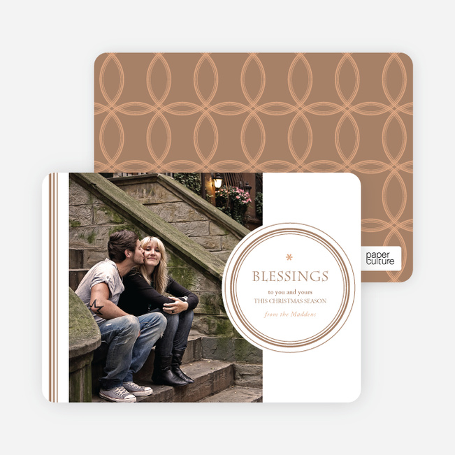 Religious Christmas Cards: Blessings - Beige