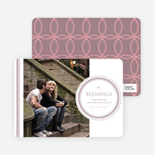 Holiday Blessings Christmas Photo Cards - Pink