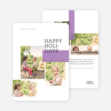 Holiday Rectangles - Purple