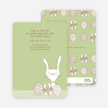 Hop on Over Easter Invitations - Artichoke