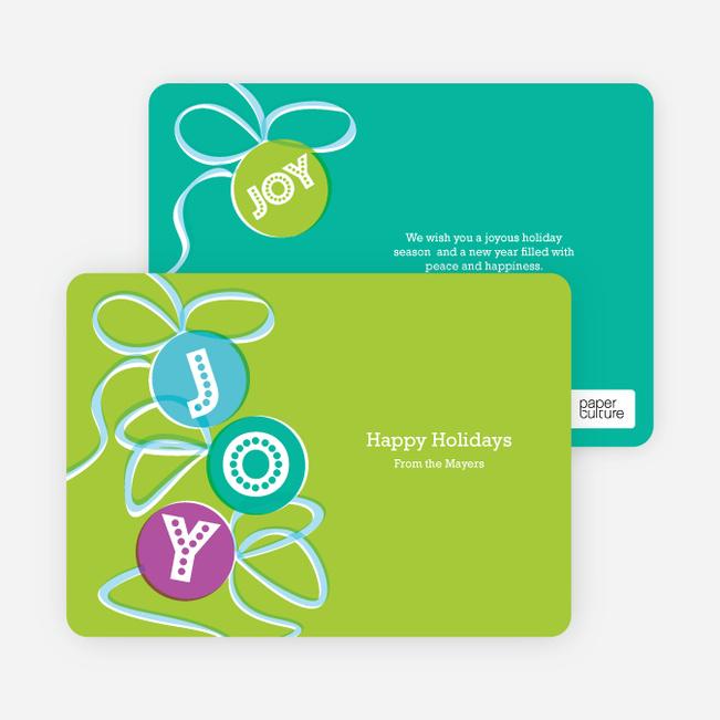 Joy Ornaments Holiday Cards - Apple Green
