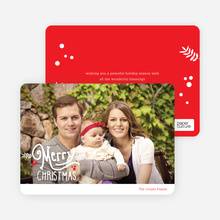 Merry Christmas Script Photo Cards - Red