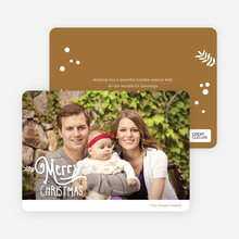 Merry Christmas Script Photo Cards - Brown