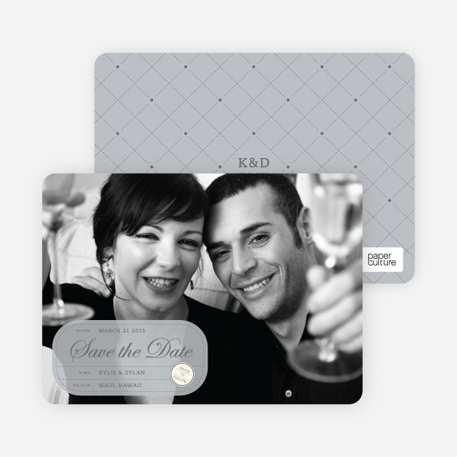 Modern Classic Save the Date Photo Cards - Silver
