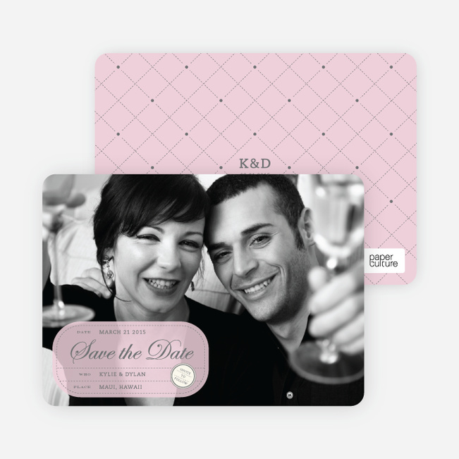 Modern Classic Save the Date Photo Cards - Wisteria