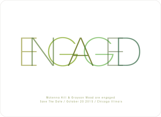 Modern Engagement Announcements - Asparagus