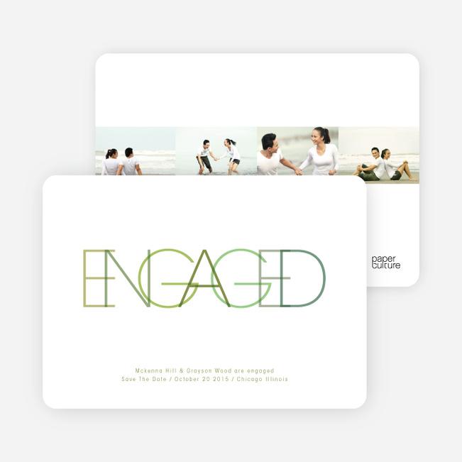 Modern Engagement Announcements - Asparagus