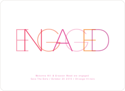 Modern Engagement Announcements - Shocking Pink