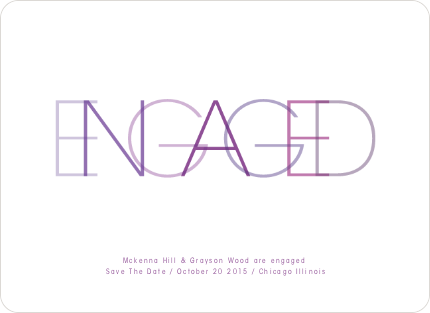 Modern Engagement Announcements - Violet