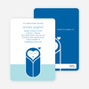 Modern Swaddle Baby Shower Invitations - Navy Blue