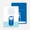 Modern Swaddle Baby Shower Invitations - Navy Blue