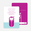 Modern Swaddle Baby Shower Invitations - Magenta