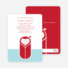 Modern Swaddle Baby Shower Invitations - Crimson