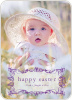 Modern Traditionalist Easter Photo Card - Grape Vine