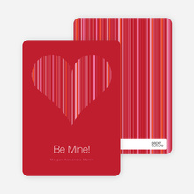 Modern Valentine Heart - Sangria