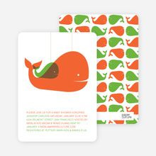 Momma and Baby Whale Mobile - Orange
