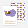 Momma and Baby Whale Baby Shower Invitation - Lavender