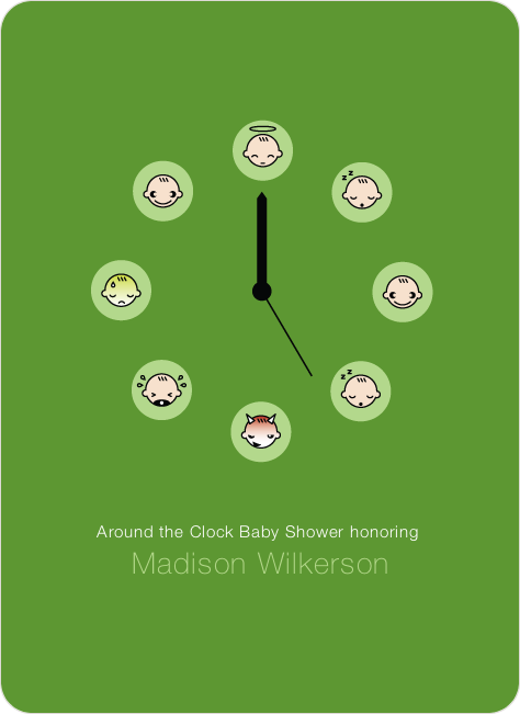 Mood Clock Baby Shower Invitation - Grass