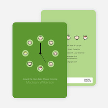 Mood Clock Baby Shower Invitation - Grass