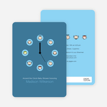 Mood Clock Baby Shower Invitation - Azure Blue