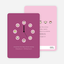 Mood Clock Baby Shower Invitation - Maroon