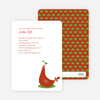 Mother Pheasant Baby Shower Invitation - Red Orange