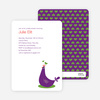 Mother Pheasant Baby Shower Invitation - Violet