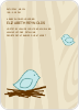 Nesting Bird Baby Shower Invitation - Light Azure