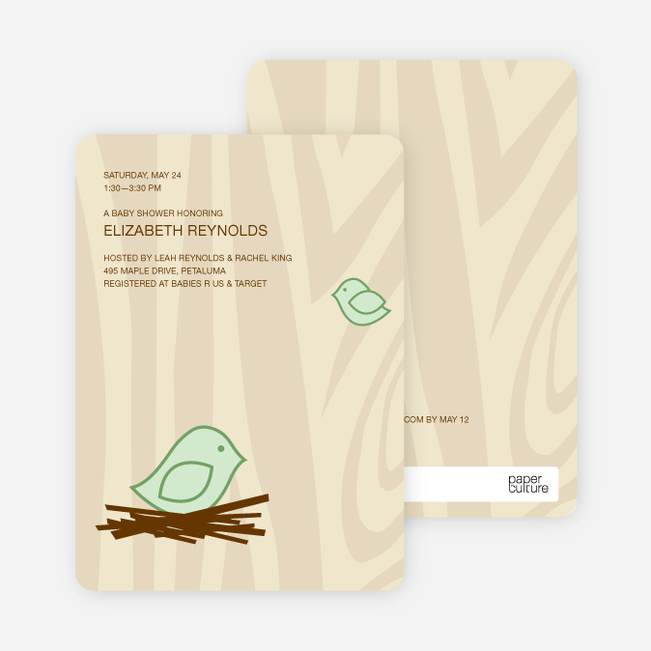 baby shower invitation paper