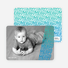 Newsflash Merry Christmas & Happy New Year Photo Cards - Royal Blue