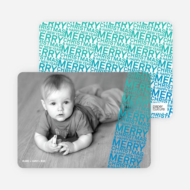 Newsflash Merry Christmas & Happy New Year Photo Cards - Royal Blue