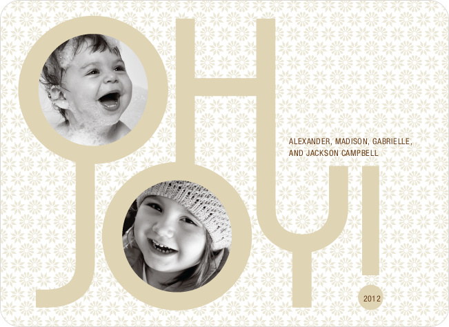 Oh Joy Modern Photo Cards - Wheat